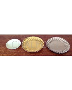 Board Saucers - gold, silver, coloured